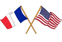 U.S. and French flags